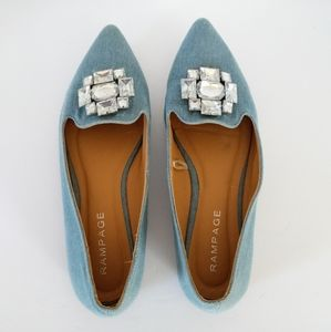 Rampage Coolsie Blue Flats Size 8M
